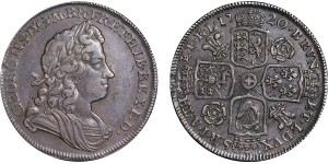 George I, Silver Half-crown, 1720. Sexto.