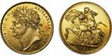 Geroge IV, Gold Sovereign, 1821.