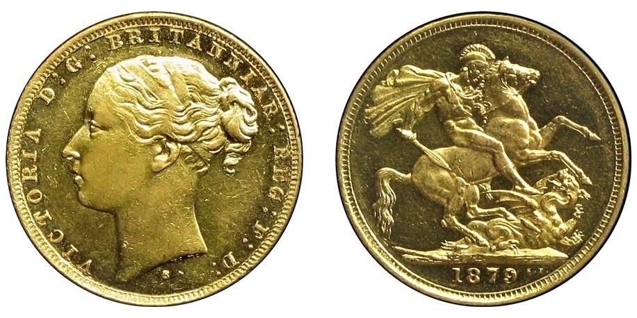 Victoria, Gold Sovereign.1879S