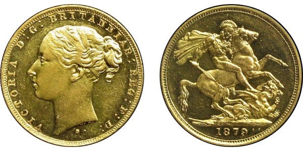 Victoria, Gold Sovereign.1879S